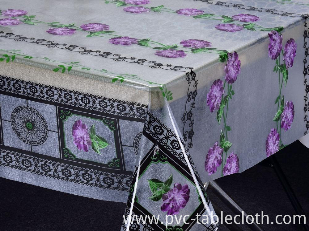 Clear Printed Tablecloth